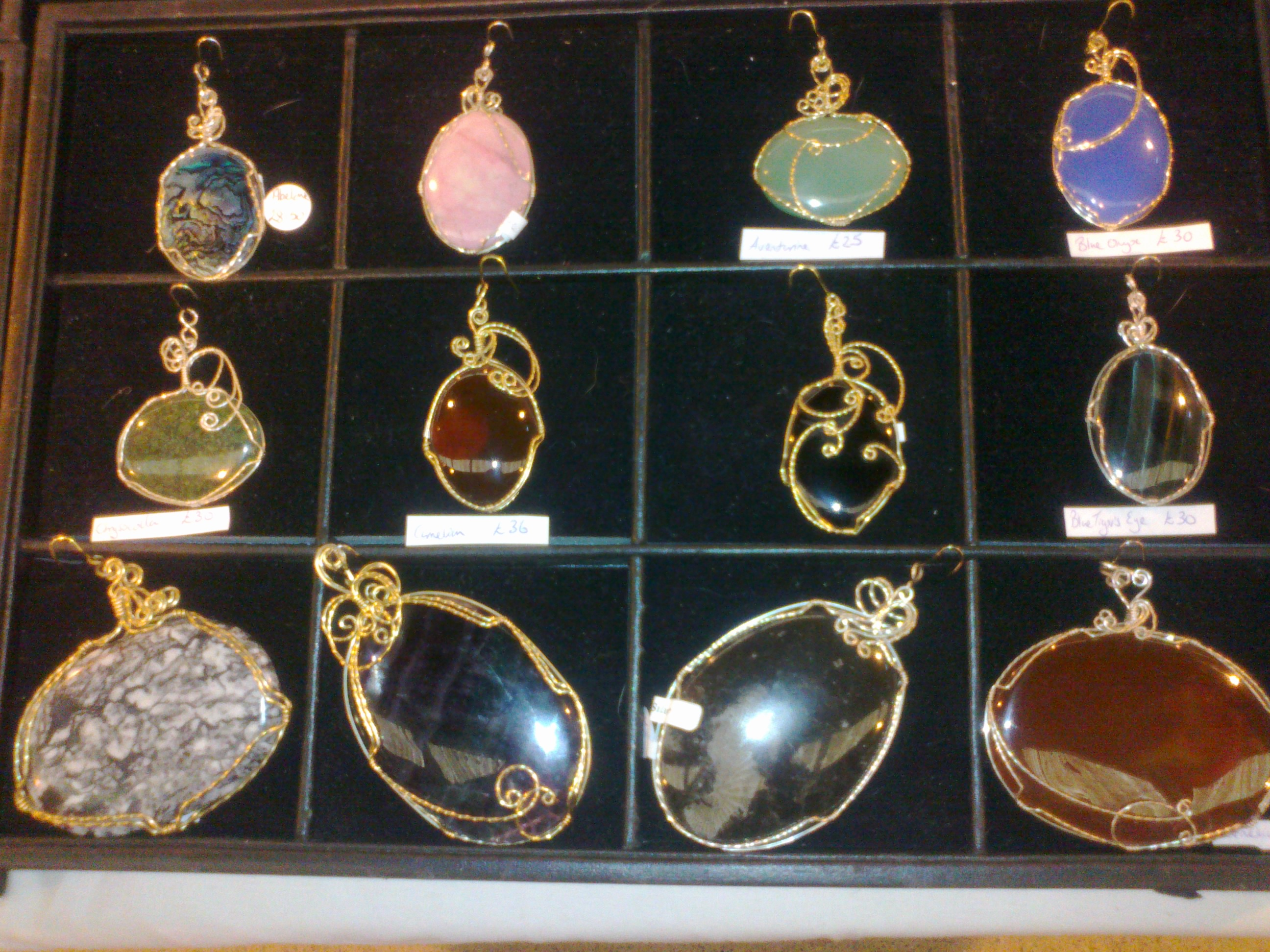 image showing Selection of Cabochon pendants.