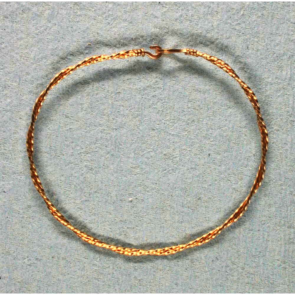 image showing Bangle Two Strand Rolled Gold 001