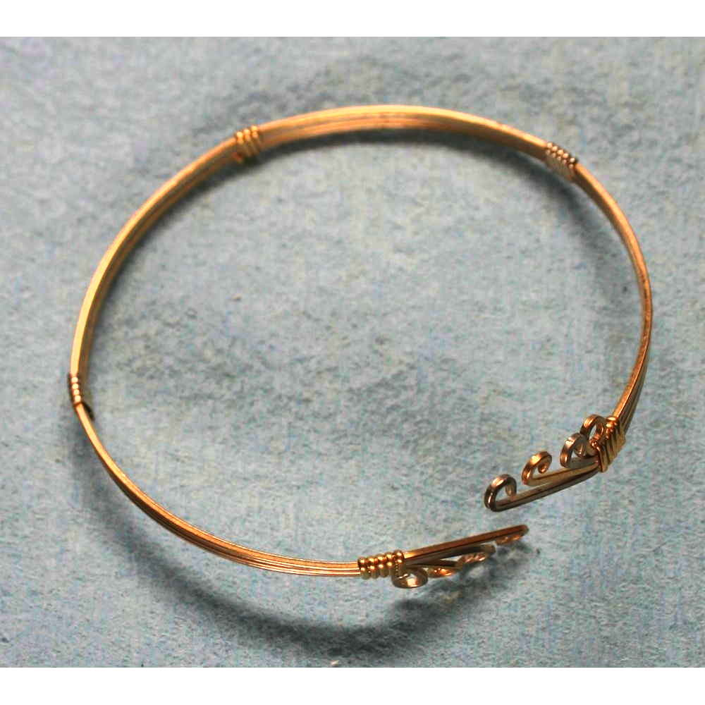 image showing Four Strand Celtic Bangle Rolled Gold 001