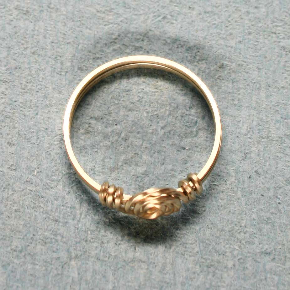 image showing Knot Ring Rolled Gold 001