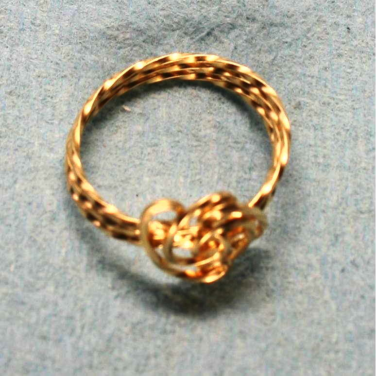 image showing Knot Ring Rolled Gold 002