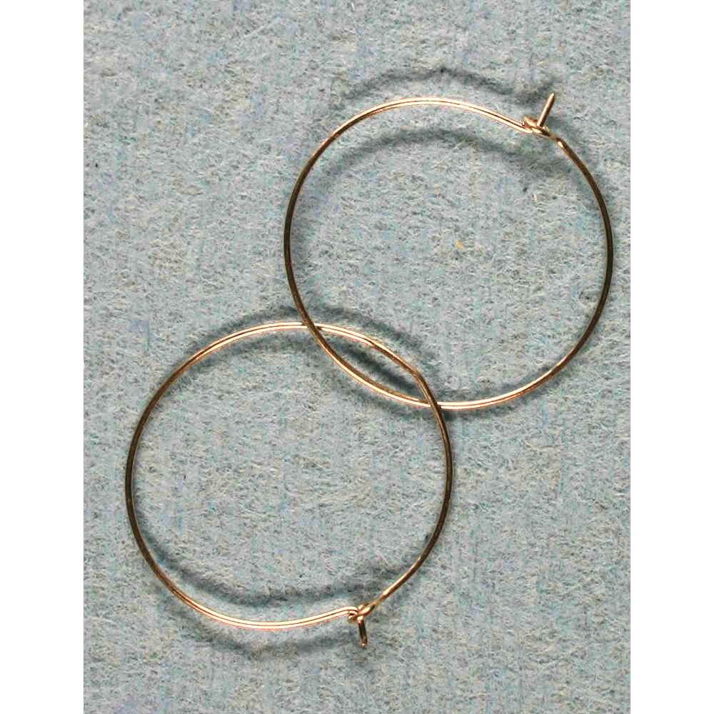 image showing Plain Hoop Earrings Rolled Silver 001