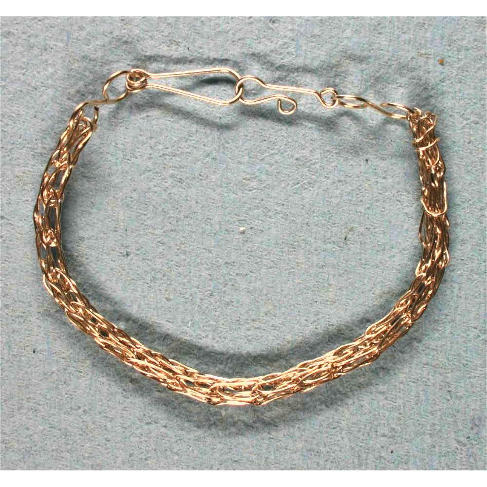 image showing Rolled Gold Viking Knit Bracelet 001